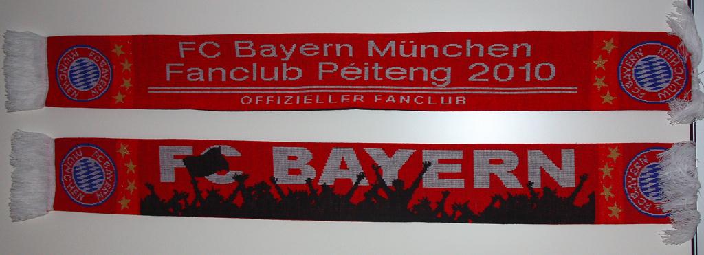 Schal vum FCB Fanclub Péiteng 2010
